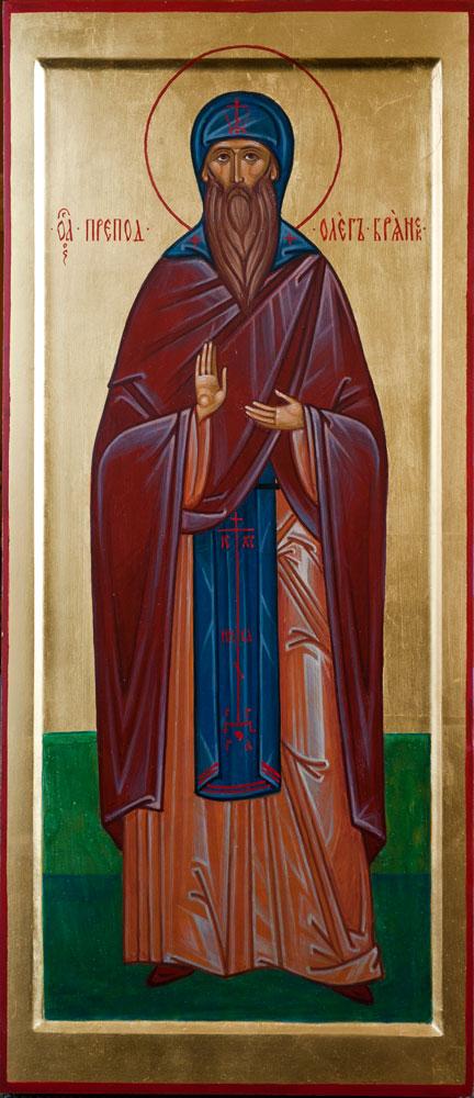 Мерная икона прп. Олег Брянский