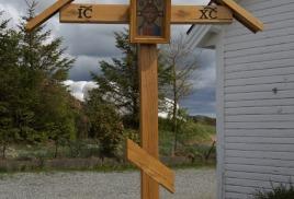 Поклонный крест с иконой Спасителя в Норвегии