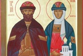 Икона святых димитрия и евдокии
