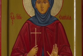 Написана икона пр. Эмилии Кесарийской